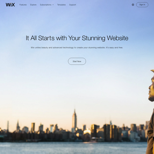 Create a free website with Wix.com. Customize with Wix' free website builder, no coding skills needed. Choose a design, begin customizing and be online today!