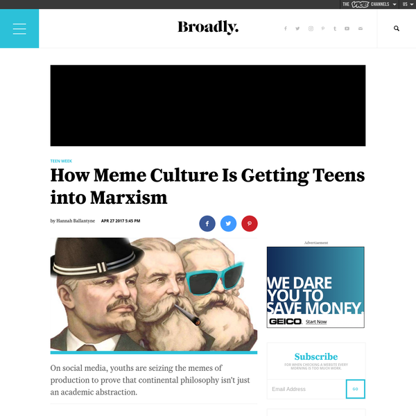 How Meme Culture Is Getting Teens into Marxism | Broadly