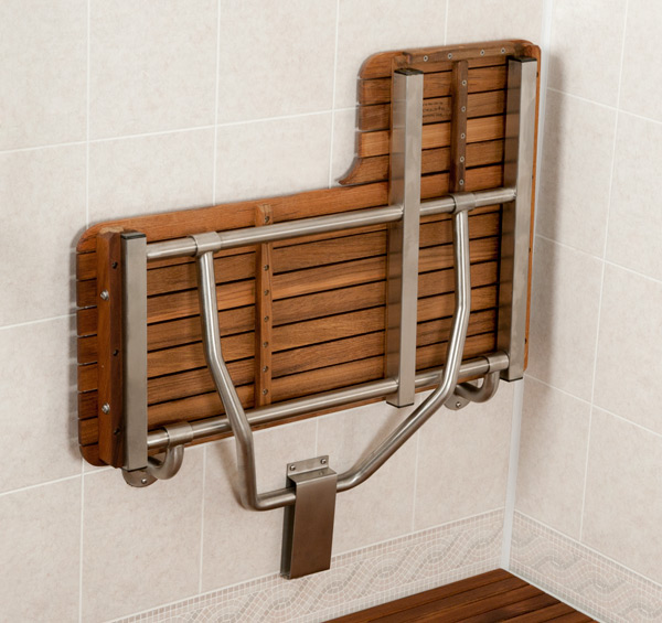 Charming Teak Fold Up Shower Seat Contemporary - Bathtub for ...