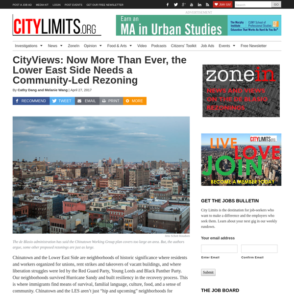 CityViews: Now More Than Ever, the Lower East Side Needs a Community-Led Rezoning