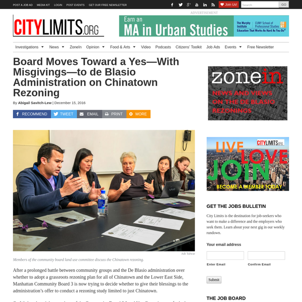 Board Moves Toward a Yes-With Misgivings-to de Blasio Administration on Chinatown Rezoning